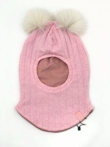 """Тепла балаклава для дитини """"Аліша"""" (рожева), 21-01-012"""