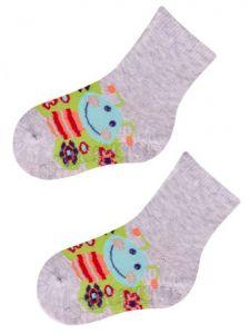"""Шкарпетки для дівчинки сірі """"метелик"""", YOclub  SK-10"""