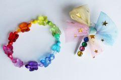 Красивий набір аксесуарів для дівчинки (заколка + браслет), ручна робота