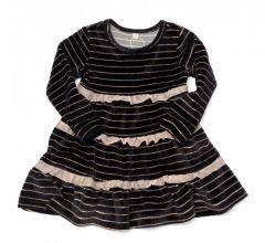 Велюровое платье с рюшами для девочки, 11691-1