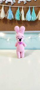 """В'язана іграшка ручної роботи """"Зайченя"""" (рожева), Rukodilna Lavka"""