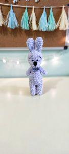 """В'язана іграшка ручної роботи """"Зайченя"""" (блакитна), Rukodilna Lavka"""