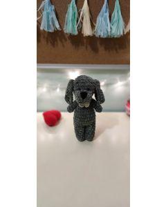 """В'язана іграшка ручної роботи """"Собака"""" (сіра), Rukodilna Lavka"""