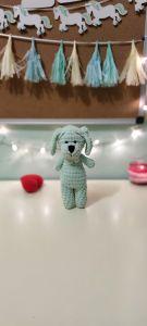 """В'язана іграшка ручної роботи """"Собака"""" (ментолова), Rukodilna Lavka"""