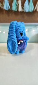 """В'язана іграшка ручної роботи """"Зайченя"""" (голуба), Rukodilna Lavka"""