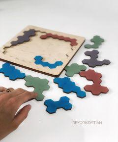"""Дерев'яна іграшка-головоломка """"Танграм"""", DekoriKristian"""