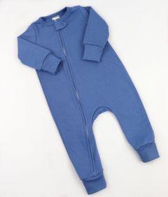 Трикотажний чоловічок з відкритими стопами (синій), Coolton