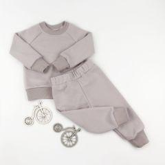 Трикотажний костюм з махровою ниткою всередині (сірий), Coolton