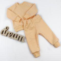 Трикотажний костюм з махровою ниткою всередині (персиковий), Coolton