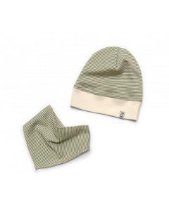Трикотажний набір з органічної бавовни для дитини (шапочка і снуд), 12086