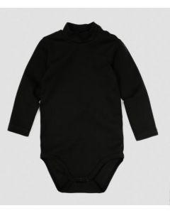 Трикотажний боді-гольф для дитини (чорний), 12269