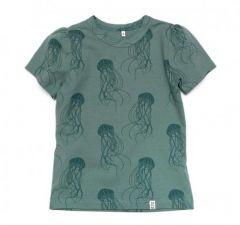 Трикотажна футболка для дівчинки, 12024-1