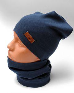 Трикотажний набір для дитини (шапочка і хомут), 11028