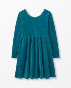 Велюрова сукня для дівчинки, 52498-5