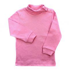 Трикотажний гольф з легким начосом, рожевий, ЗЛН118