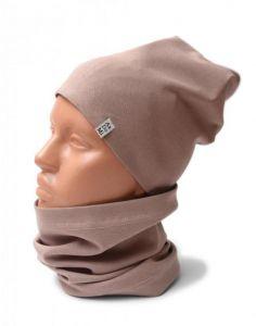 Трикотажний набір для дитини (шапочка і хомут), 11534