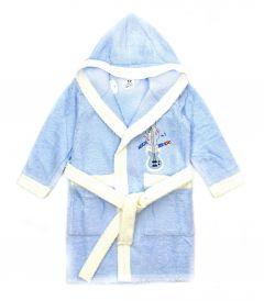 Махровый халат для ребенка (голубой), 471 Ramel Kids