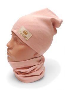 Трикотажный набор для девочки (шапочка и хомут), 11038