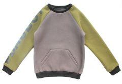 Теплий світшот з флісовою байкою всередині для дитини (оливковий), Robinzone КФ-501