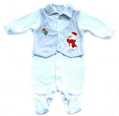 Новорічний велюровий чоловічок для малюка, 110-522-4