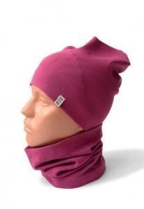 Трикотажний набір для дівчинки (шапочка і хомут), 11779