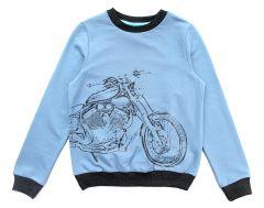 Трикотажный свитшот для мальчика (джинс), Robinzone КФ-447