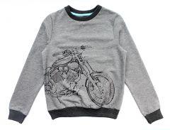 Трикотажный свитшот для мальчика (серый), Robinzone КФ-447