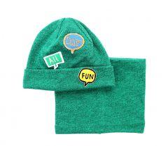 """Набір """"Вуді"""" для дитини, зелений (шапочка і хомут), 19.04.040"""