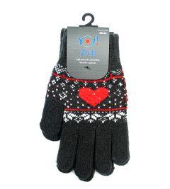 Рукавиці для дівчинки (темно-сірі), YoClub R-076A