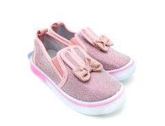 Слипоны для девочки (розовые), YO Club OT-015