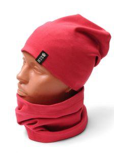 Трикотажный набор для девочки (шапочка и хомут), 11037
