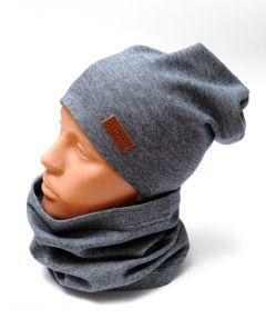 Трикотажный набор для ребенка (шапочка и хомут), 11025