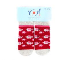 """Шкарпетки для дівчинки """"слоники"""",  YOclub  SK-10"""