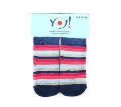"""Шкарпетки для дівчинки """"смужка"""",  YOclub  SK-10"""