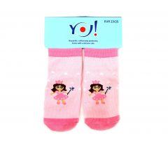 """Шкарпетки для дівчинки """"принцеса"""",  YOclub  SK-10"""
