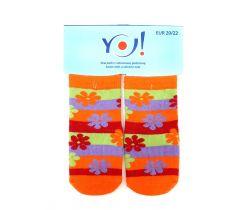 """Шкарпетки для дівчинки  """"квіти"""",  YOclub  SK-10"""