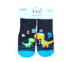 """Носки для мальчика """"динозавры"""", YOclub  SK-10"""