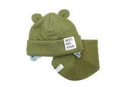 """Набір """"Лука"""" для хлопчика, хакі (шапочка і хомут), 20.04.023"""