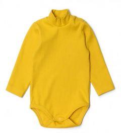 Трикотажний боді-гольф для дитини (яскраво-жовтий), 10995