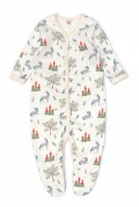 """Трикотажний чоловічок """"Єдинороги"""" для малюка, 11708-1"""