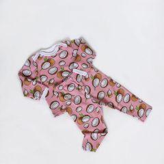 Трикотажна піжама для дівчинки (кокоси), Coolton