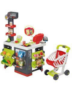 """Інтерактивний супермаркет """"City Market"""" з візком і зі звуковими ефектами, Smoby Toys 350213"""