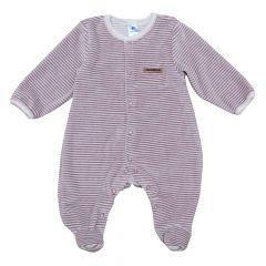 Велюровий чоловічок для малюка (пудровий), Minikin 208204