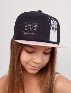 """Модная  кепка для девочки """"Джовита"""" 20.03.042 (черная)"""