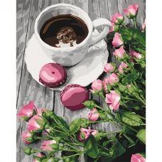"""Картина за номерами """"Романтична кава"""" 40*50, Ідейка КНО5559"""