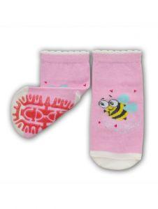 """Шкарпетки для дівчинки рожеві """" бджілка"""", YOclub  SK-10"""