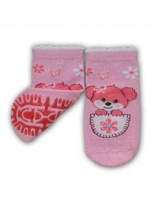 """Шкарпетки для дівчинки рожеві """"собачка"""",  YOclub  SK-10"""