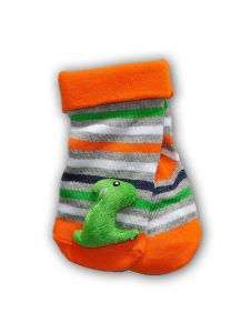 """Шкарпетки з 3D нашивкою в смужку """"Динозавр"""", YOclub SKC-TOYS"""