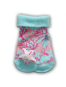 """Шкарпетки з 3D нашивкою ментолові """" Зірочка"""", YOclub SKC-TOYS"""