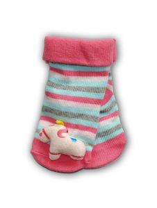 """Шкарпетки з 3D нашивкою в смужку """"Єдиноріг """", YOclub SKC-TOYS"""
